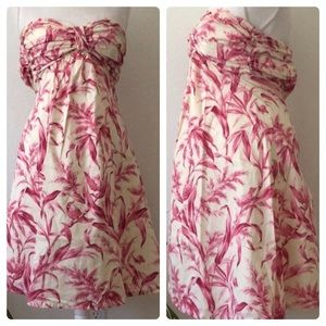 Anthropologie Tabitha Toile Bandeau Bird Dress